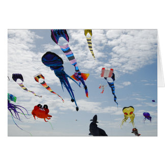 Multi Color Kites Painting the sky Card