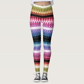 Multi-color Lace Wave Leggings