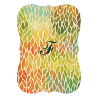 multi color leaf pattern,trendy,abstract art,hip card