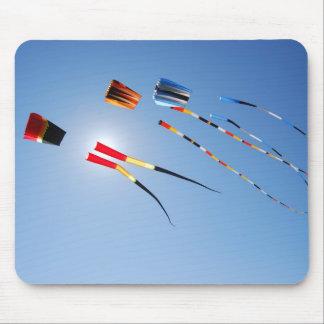 Multi Color Long Tail Kites Mouse Pad
