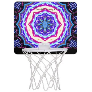 Multi-color mandala pattern Thunder_Cove Mini Basketball Hoop
