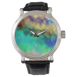 Multi-color marble watch