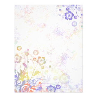 Multi Color Pastel Floral Border Flyers