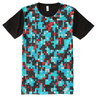 Multi-Color Pattern Cool All-Over Print T-Shirt