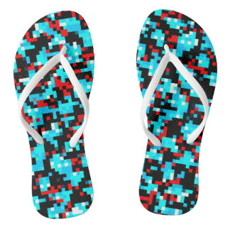 Multi-Color Pattern Cool Flip Flops