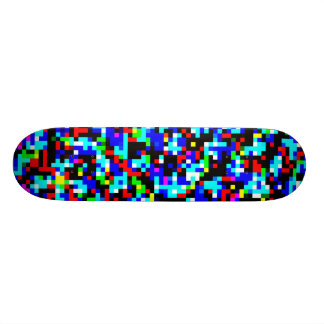 Multi-Color Pattern Skateboard Deck