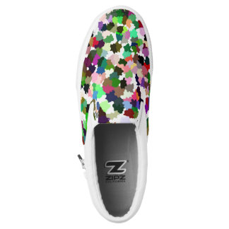 Multi-Color Pattern Slip On Shoes