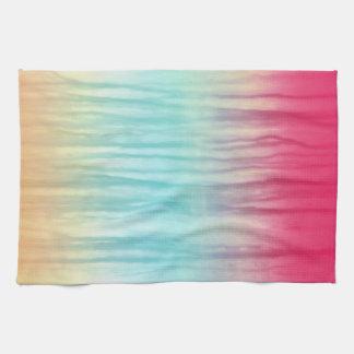 Multi-Color Rainbow Abstract Pattern Tea Towel