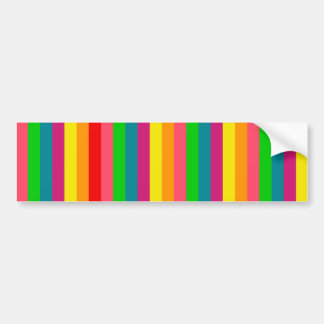 Multi Color Rainbow Vertical Stripes Pattern Bumper Stickers