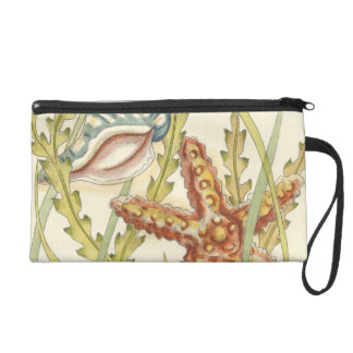 Multi-Color Shell Party Wristlet