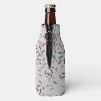 Multi Color Sprinkles Frosted Bottle Cooler