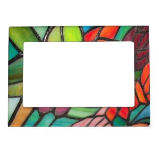 Multi-Color Stained Glass Magnetic Frame