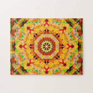 Multi-Color Star Shapes Mandala Puzzle