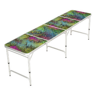 Multi-Color Stitches Beer Pong Table