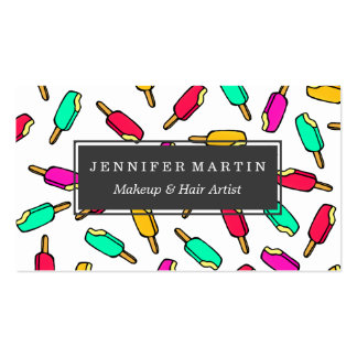 Multi Color Summer Popsicle Pattern Pack Of Standard Business Cards