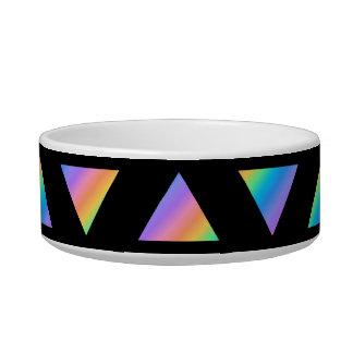 Multi Color Triangle Pattern. Bowl