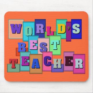 Multi-color World's best teacher Mouse Pad