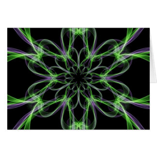 Multi Colored Abstact Art Greeting Card