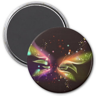Multi-colored Abstract Butterfly Magnet