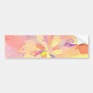 """Multi Colored Abstract Flower Design Pattern"" Bumper Sticker"