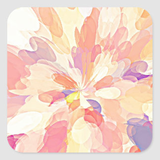Multi Colored Abstract Flower Design Pattern Stickers