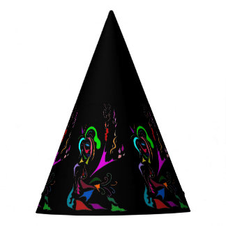 MULTI COLORED ABSTRACT MUSE PARTY HATS
