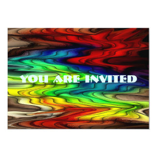 Multi Colored Abstract Pattern 13 Cm X 18 Cm Invitation Card