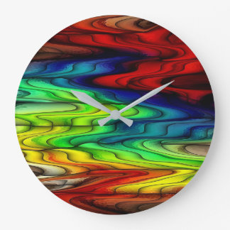 Multi Colored Abstract Pattern Wall Clocks