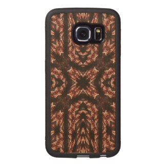 Multi colored Abstract Pattern Wood Phone Case