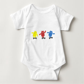 Multi Colored Android Skateboarder Baby Bodysuit