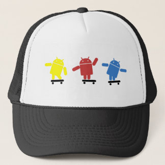 Multi Colored Android Skateboarder Trucker Hat