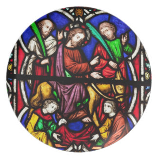 Multi Colored Bible Scene Plate