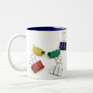 Multi Colored Binder Clips Mugs