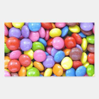 Multi-Colored Candy Rectangular Sticker