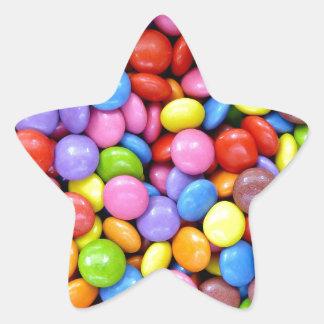 Multi-Colored Candy Star Sticker