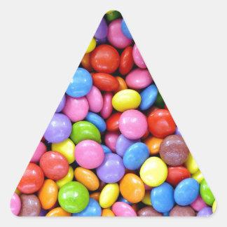 Multi-Colored Candy Triangle Sticker