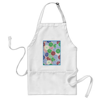multi colored Chrysanthemum Standard Apron