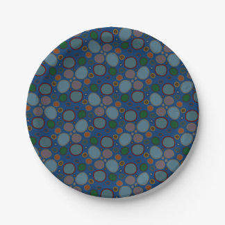 Multi-colored Circle Pattern Paper Plate