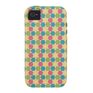 Multi colored Circles iPhone 4/4S Cover
