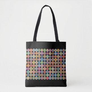 Multi-Colored-Circles-Sophisticated-Handbag-Tote Tote Bag