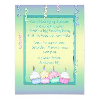 Multi-colored Cupcake Birthday Card