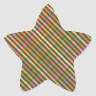 multi-colored diagonal abstract star sticker
