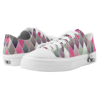 Multi-colored Diamonds Low Tops