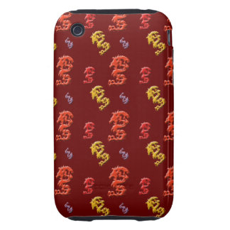Multi Colored Dragons on Cases and Covers Tough iPhone 3 Cases