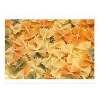 multi colored dried pasta postcards