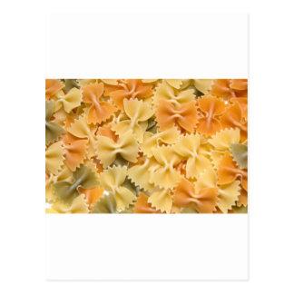 multi colored dried pasta postcard