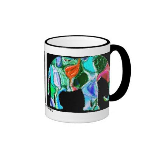 Multi Colored Elephant Mugs