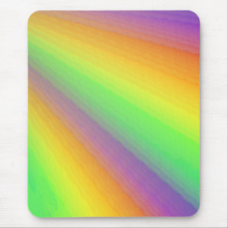 Multi-Colored Fan Design Mouse Pad
