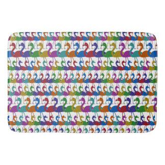 Multi-Colored Flamingo Bath Mat