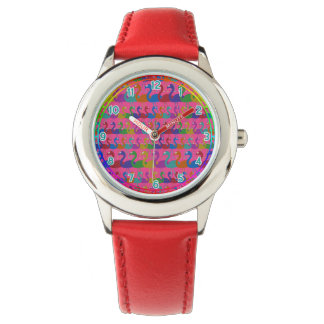 Multi-Colored Flamingo Wrist Watch